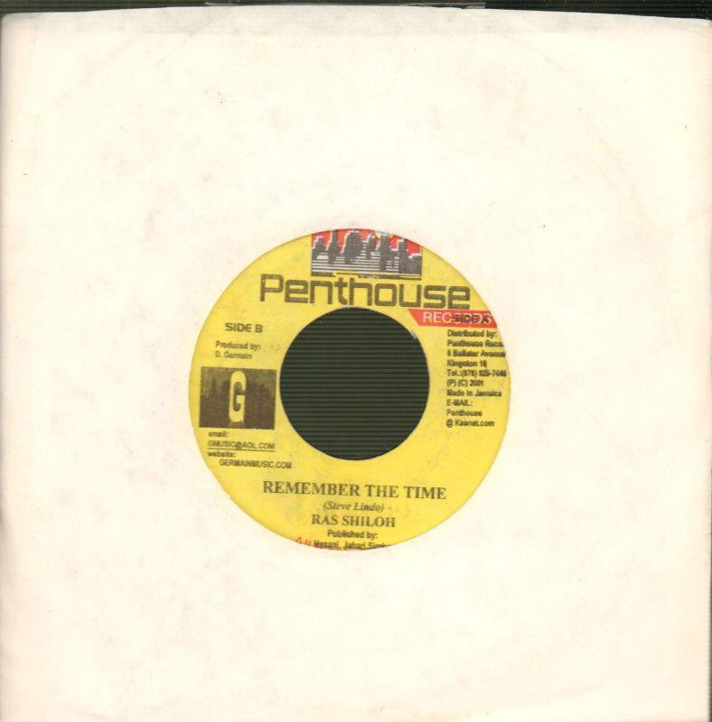 "Ras Shiloh-Remember The Time-Penthouse-7"" Vinyl"