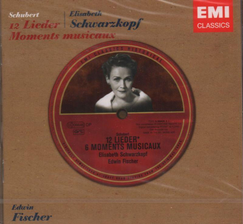 Schubert/Elizabeth Schwarzkopf-12 Lieder - Moments Musicaux-CD Album
