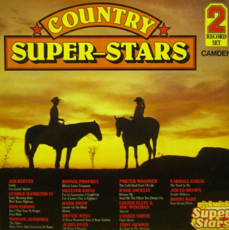 "Various Country-Country Super-Stars-Pickwick-2x12"" Vinyl LP Gatefold"