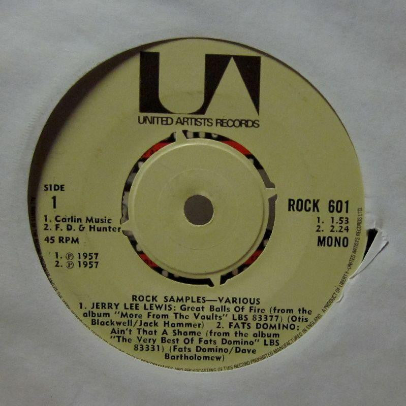 "D J Shortcut-Rock Samples-United Artist-7"" Vinyl"
