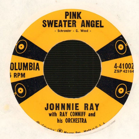 "Johnnie Ray-Texas Tambourine/ Pink Sweater Angel-Columbia-7"" Vinyl-Ex/VG"