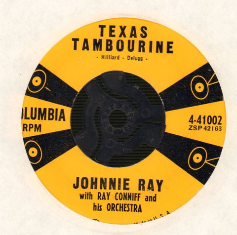 "Johnnie Ray-Texas Tambourine/ Pink Sweater Angel-Columbia-7"" Vinyl"