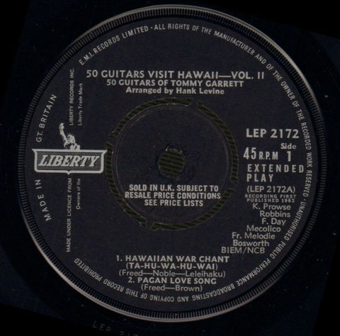 "Tommy Garrett-50 Guitars Vol.2 EP-Liberty-7"" Vinyl P/S-VG/VG"