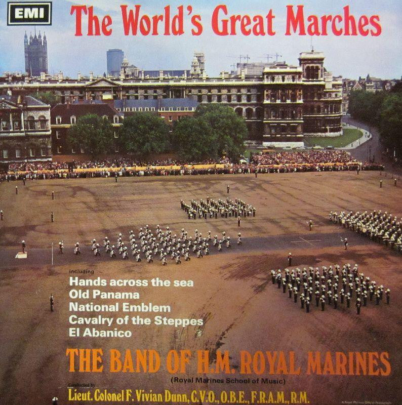 Band of H.M. Royal Marines-World's Great Marches-HMV/EMI-Vinyl LP