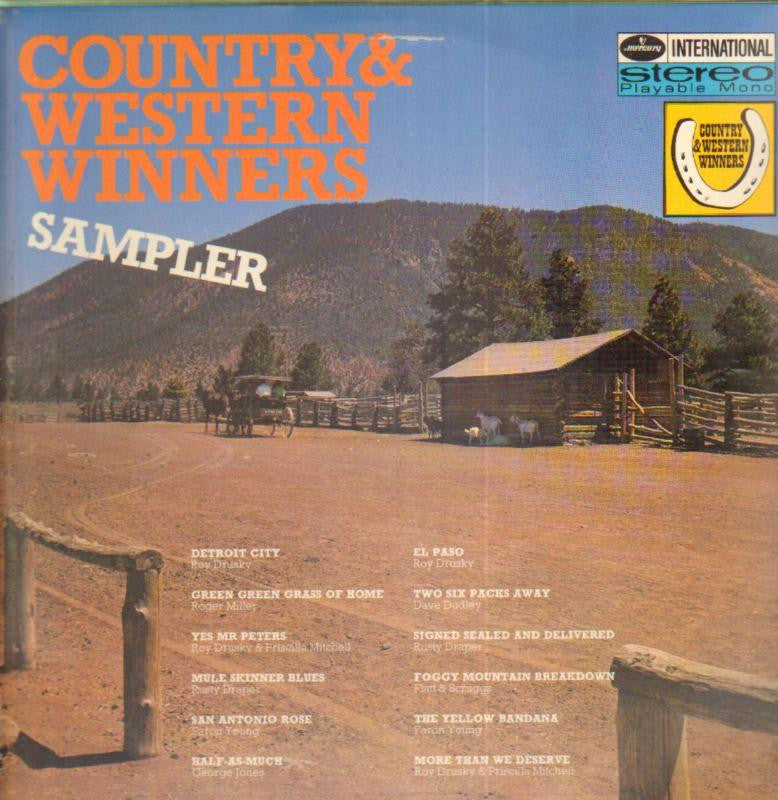"Various Country-Country & Western Winners Sampler-Mercury-2x12"" Vinyl LP Gatefold"