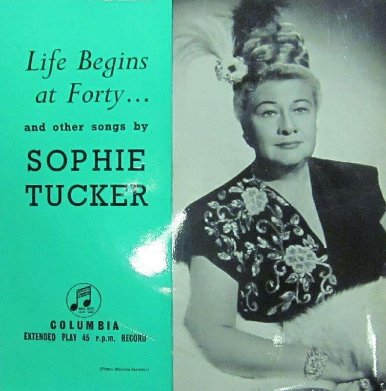"Sophie Tucker-Life Begins At Forty-Columbia-7"" Vinyl"