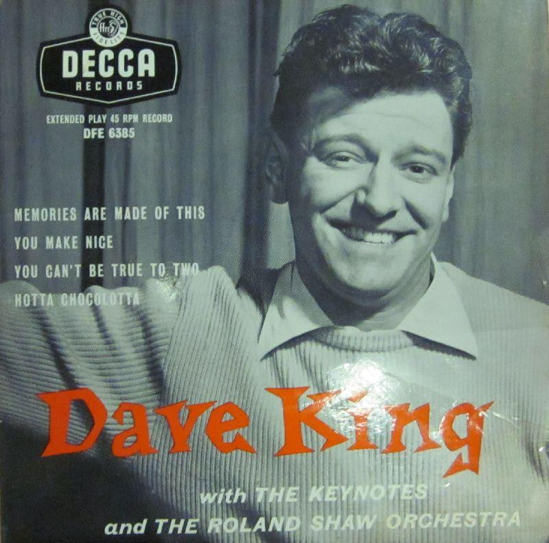 "Dave King-Memories Are Made Of This-Decca-7"" Vinyl"