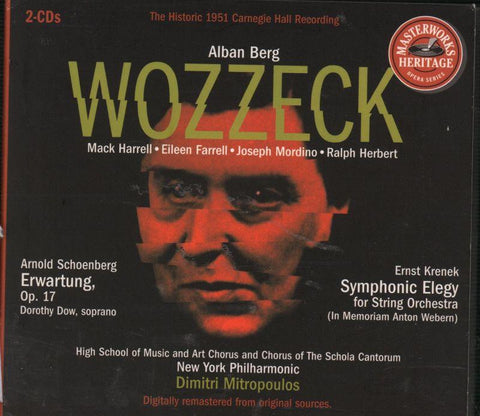 Alban Berg and Arnold Schoenberg-Wozzeck/ Schoenberg: Erwartung, Op.17-CD Album