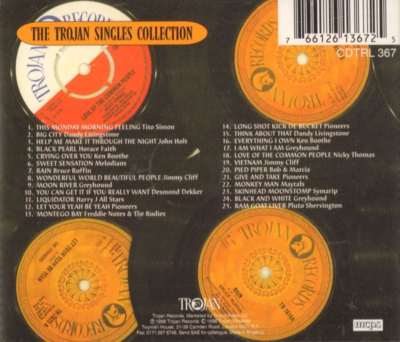 The Trojan Singles Collection-Trojan-CD Album-New