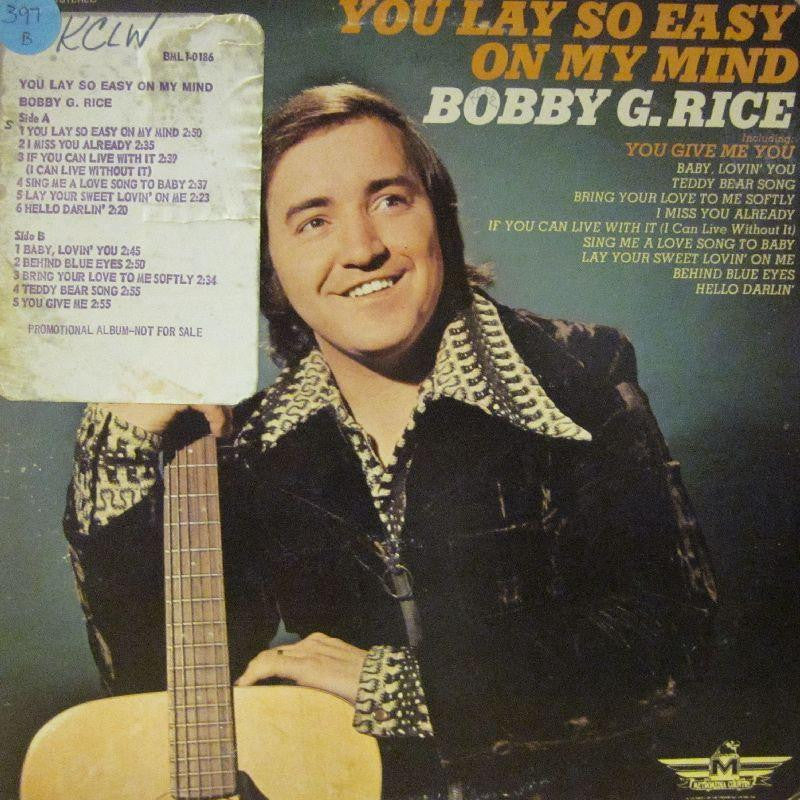 Bobby G.Rice-You Lay So Easy On My Mind-Metromedia Country-Vinyl LP