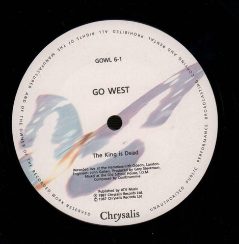 "Go West-The King Is Dead-Chrysalis-12"" Vinyl P/S-VG/NM"