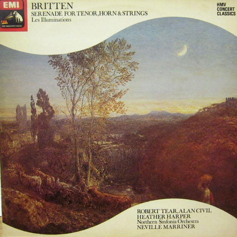 Britten-Serenade For Tenor, Horn & Strings-HMV-Vinyl LP