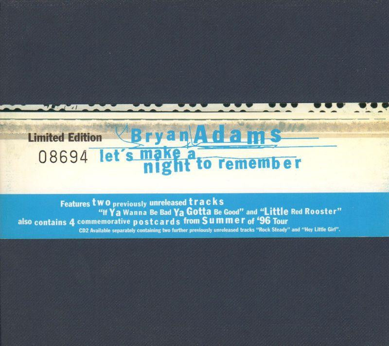 Bryan Adams-Let's Make A Night To Remember-A&M-CD Single