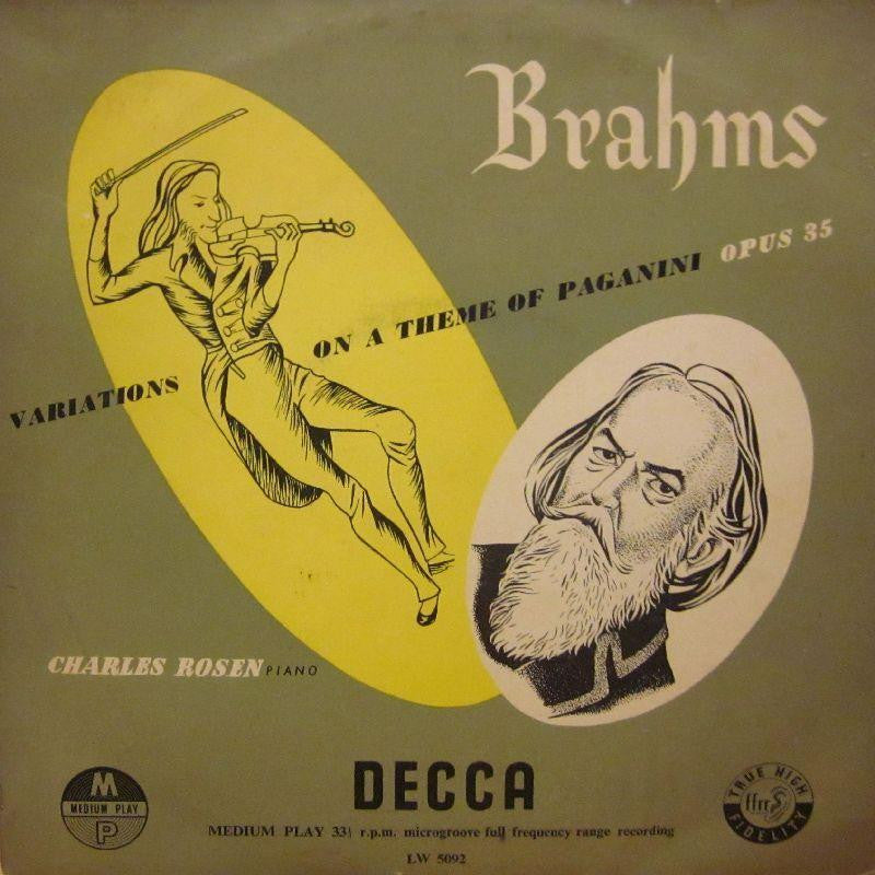 "Brahms-Variations On A Theme Of Paganini-Decca-10"" Vinyl"