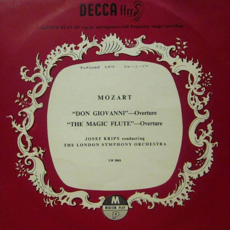"Mozart-Don Giovanni/The Magic Flute Overtures-Decca-10"" Vinyl"