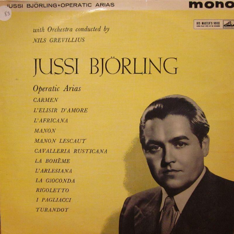 Jussi Bjorling-Operatic Arias-HMV-Vinyl LP