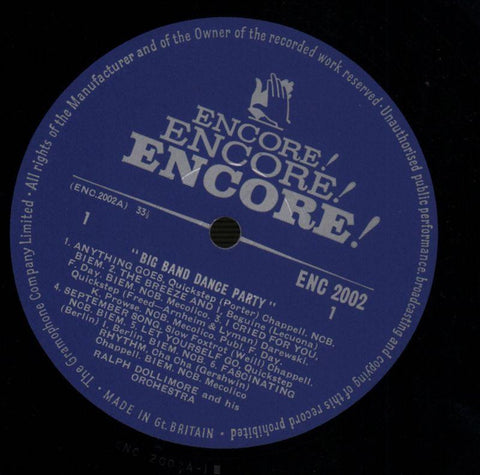 Ralph Dollimore-Big Band Dance Party-Encore-Vinyl LP-VG/VG