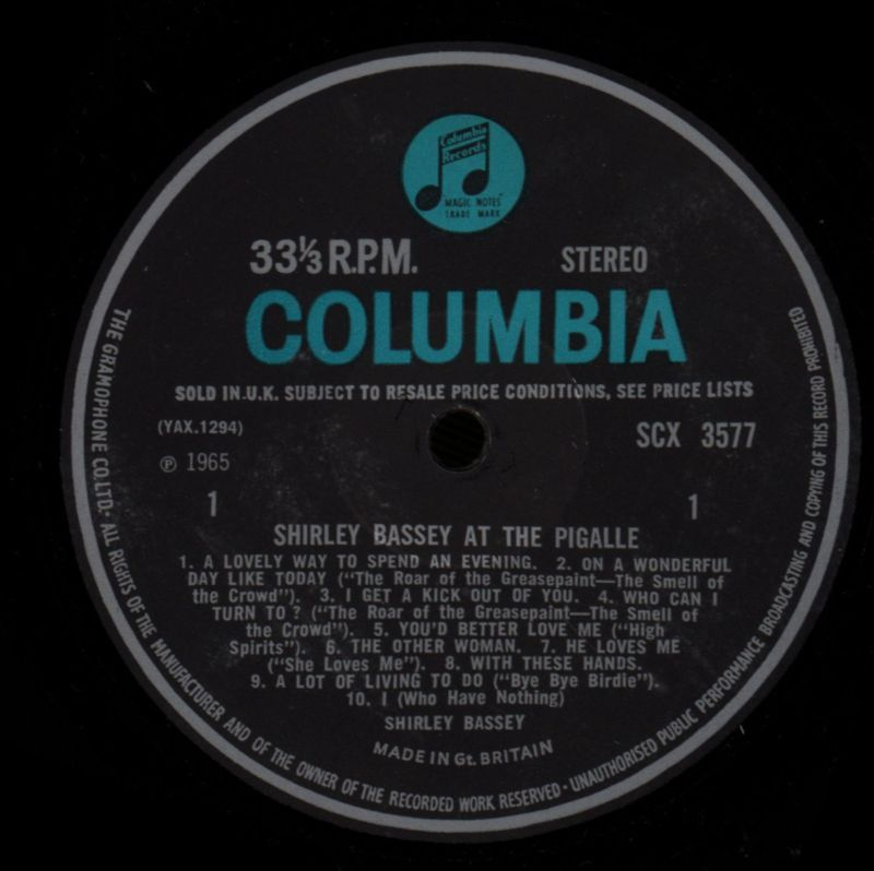 57f81bec248 At The Pigalle-Columbia-Vinyl LP-VG/VG