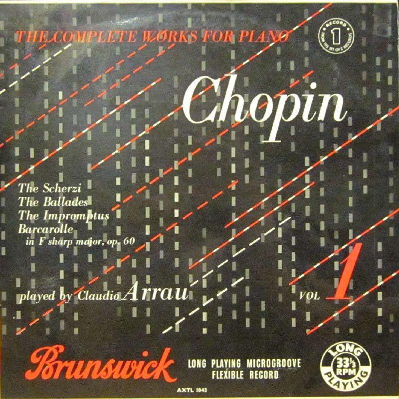 "Chopin-Complete Works For Piano Record 1 & 2-Brunswick-2x12"" Vinyl LP"