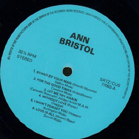 Ann Bristol-12 Kinds Of Love-SRT-Vinyl LP-VG/VG