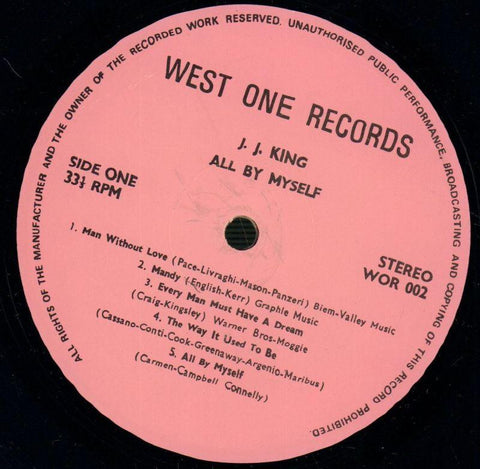 J.J King-All By Myself-West One-Vinyl LP-VG/Ex