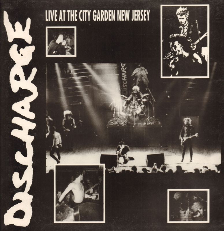 DischargeLive At The City Garden-Clay-Vinyl LP Gatefold-VG/NM