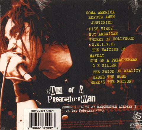 Amen-Gun Of A Preacher Man-Secret/Snapper-CD Album-New