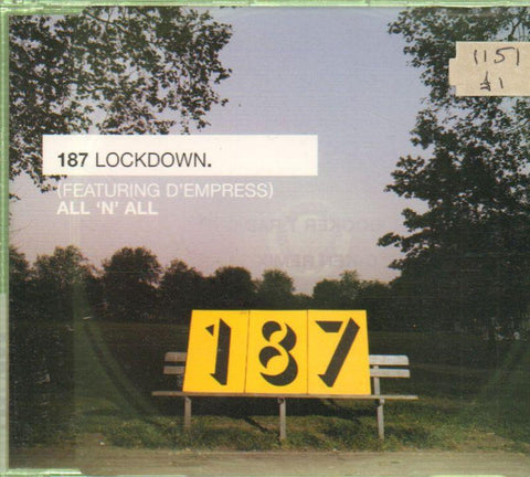 187 Lockdown-All 'N' All-CD Single