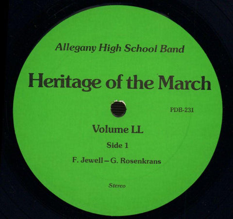 Allegany High School Band-Heritage Of The March Volume LL-Vinyl LP-Ex/NM
