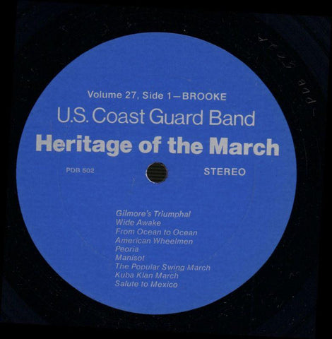 United States Coast Guard Band-Heritage Of The March Volume 27-Vinyl LP-Ex/NM