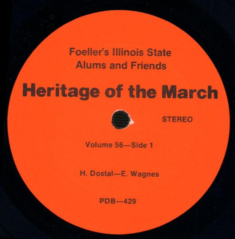 Foeller's Illinois State Alums And Friends-Heritage Of The March Volume 56-Vinyl LP-Ex/NM