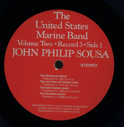 "The United States Marine Band-The Heritage Of John Philip Sousa Volume 2-2x12"" Vinyl LP Gatefold-VG+/Ex"