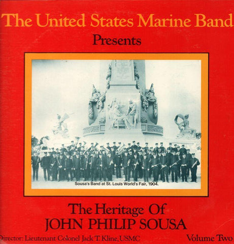 "The United States Marine Band-The Heritage Of John Philip Sousa Volume 2-2x12"" Vinyl LP Gatefold"
