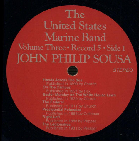 "The United States Marine Band-The Heritage Of John Philip Sousa Volume Three-2x12"" Vinyl LP Gatefold-VG+/Ex"