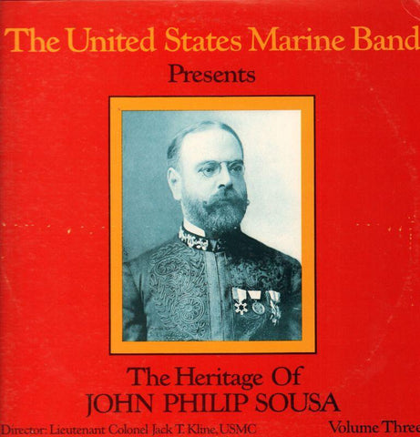 "The United States Marine Band-The Heritage Of John Philip Sousa Volume Three-2x12"" Vinyl LP Gatefold"