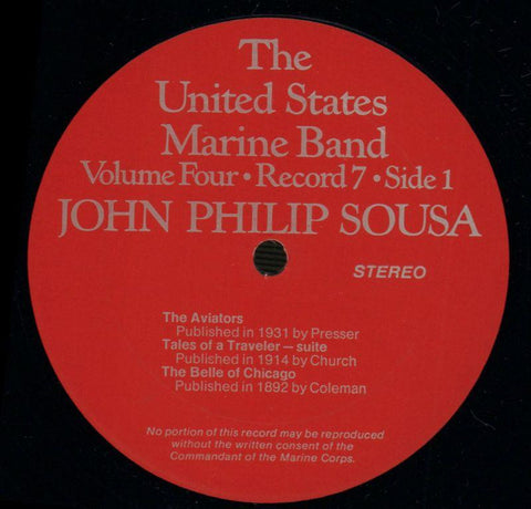 "The United States Marine Band-The Heritage Of John Philip Sousa Volume Four-2x12"" Vinyl LP Gatefold-VG+/Ex"