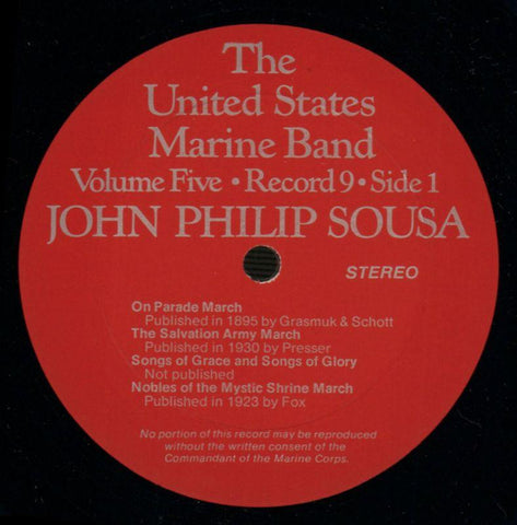 "The United States Marine Band-The Heritage Of John Philip Sousa Volume Five-2x12"" Vinyl LP Gatefold-VG+/Ex"