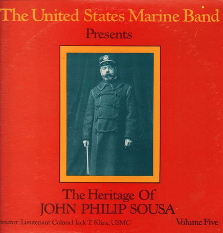 "The United States Marine Band-The Heritage Of John Philip Sousa Volume Five-2x12"" Vinyl LP Gatefold"