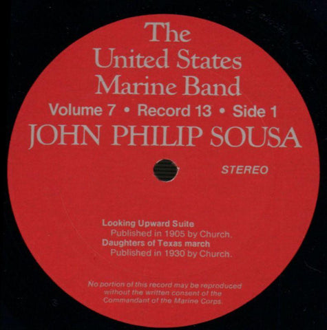 "The United States Marine Band-The Heritage Of John Philip Sousa Volume Seven-2x12"" Vinyl LP Gatefold-VG+/Ex"