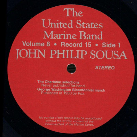 "The United States Marine Band-The Heritage Of John Philip Sousa Volume Eight-2x12"" Vinyl LP Gatefold-VG+/Ex"