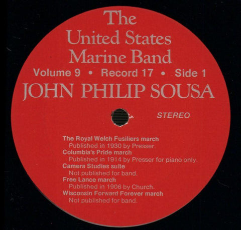 "The United States Marine Band-The Heritage Of John Philip Sousa Volume Nine-2x12"" Vinyl LP Gatefold-VG+/Ex"