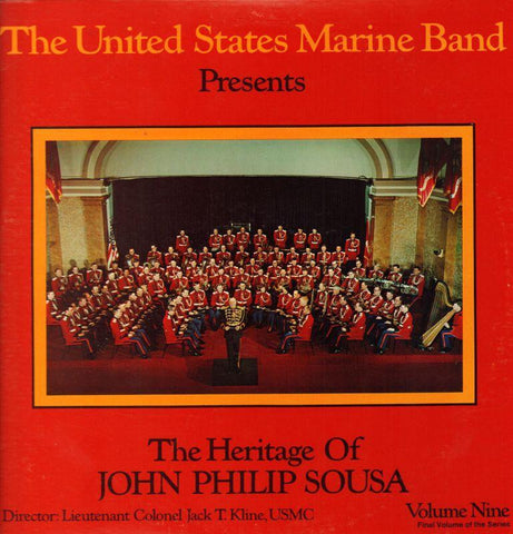 "The United States Marine Band-The Heritage Of John Philip Sousa Volume Nine-2x12"" Vinyl LP Gatefold"