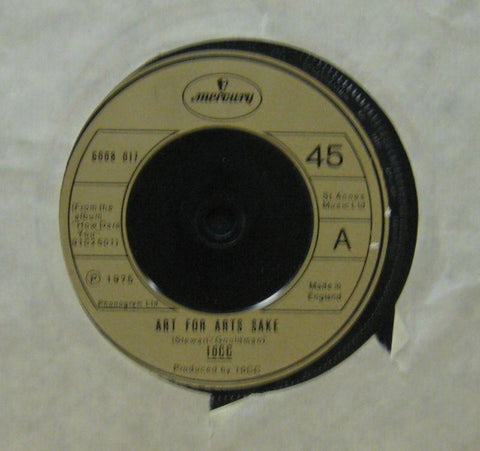 "10CC-Art For Arts Sake-Mercury-7"" Vinyl"