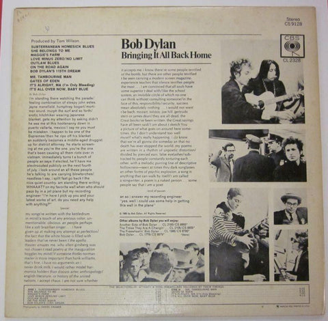 Bob Dylan-Bringing It All Back Home-CBS-Vinyl LP-VG/VG+