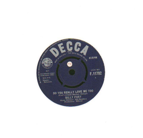 "What Am I Gonna Do/ Do You Really Love Me-Decca-7"" Vinyl"
