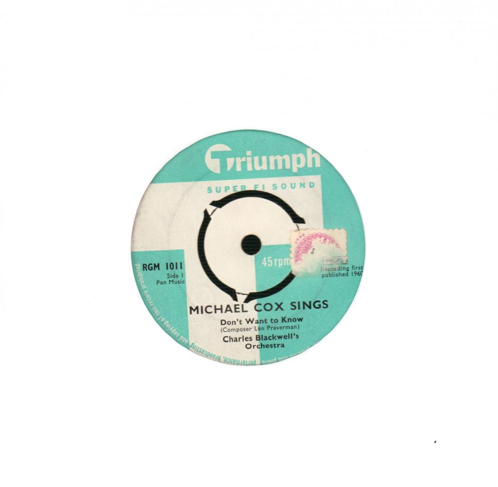"Don't You Want To Know / Angela Jones-Triumph-7"" Vinyl"