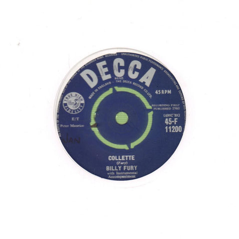 "Collette-Decca-7"" Vinyl"