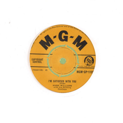 "I'm Satisfied With You-MGM-7"" Vinyl"