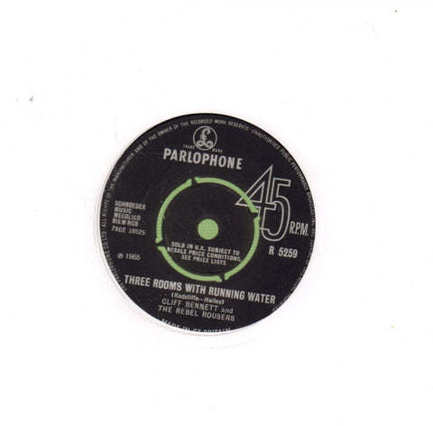 "Three Rooms With Running Water-Parlophone-7"" Vinyl"