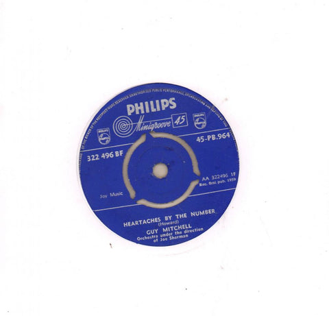 "Heartaches By The Number-Philips-7"" Vinyl"